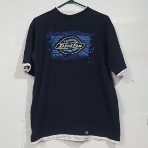 VTG 90's DICKIES DOUBLE TEE Spellout Shirt